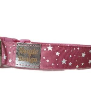 pink csillagos kutya nyakörv1