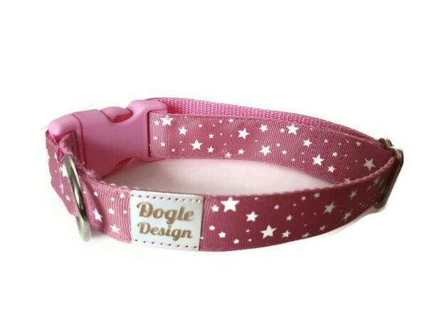 pink csillagos kutya nyakörv2