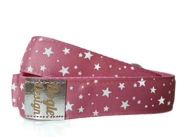 pink csillagos kutya póráz2