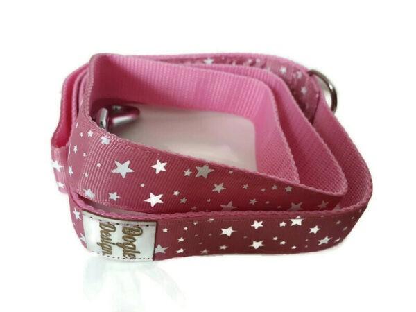 pink csillagos kutya póráz3